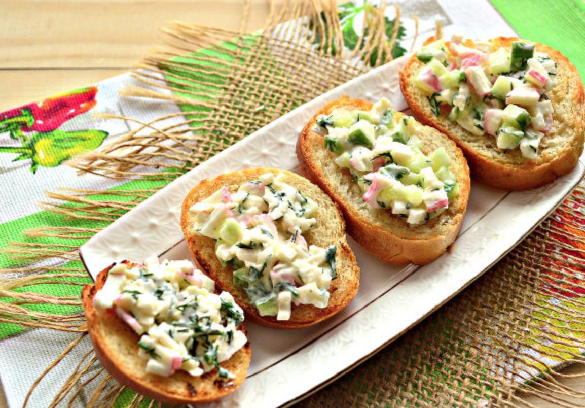 Интересные бутерброды на праздничный стол и рецептами
